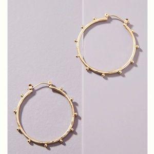 Anthropologie Darcy studded hoop earring